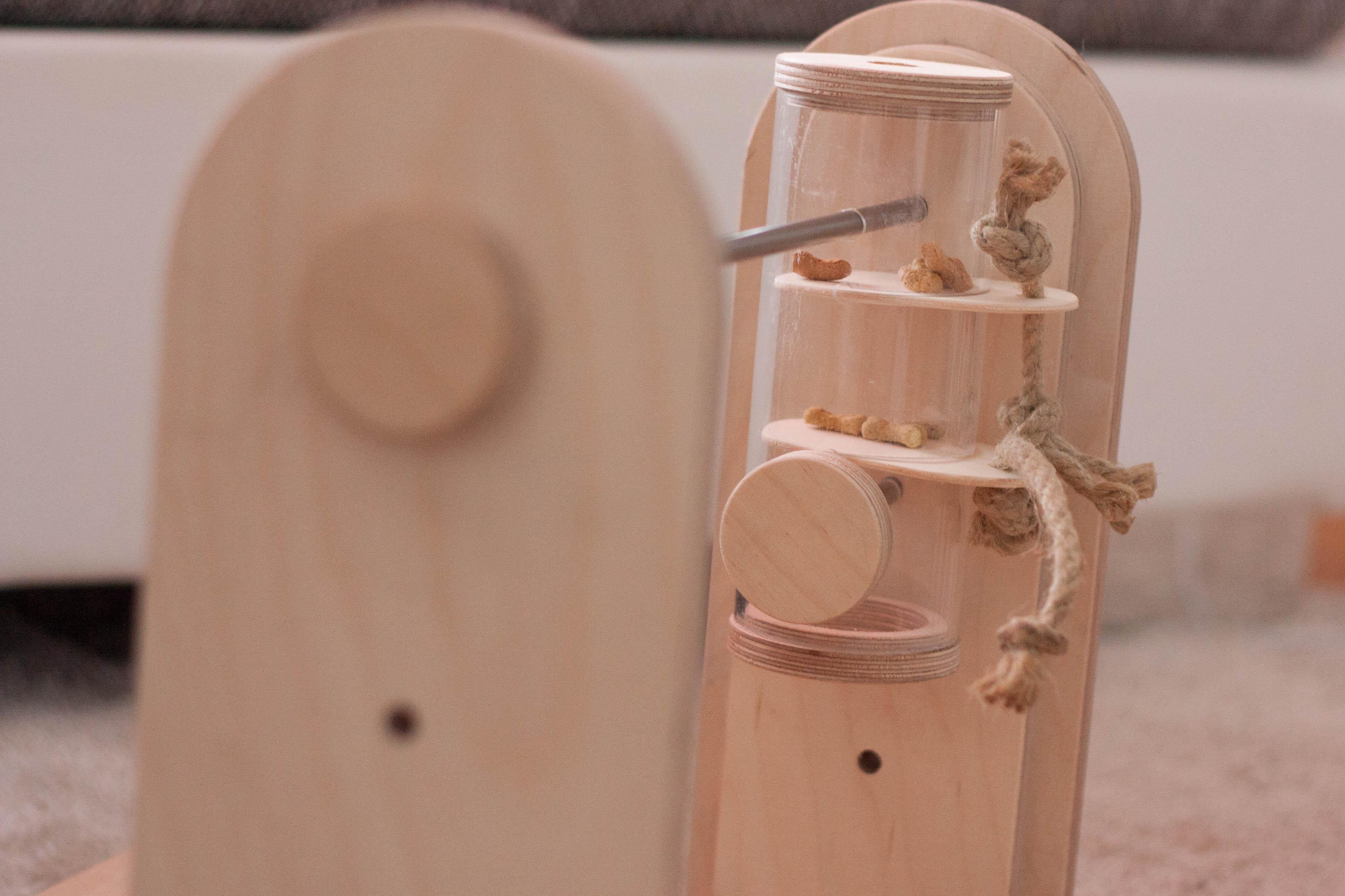 Hundebeschäftigung Intelligenzspielzeug Denkspiel aus Holz für Hunde Mentra Denkspielset